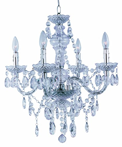 Park madison lighting pmc 6604 cl 4 light clear acrylic chandelier ceiling