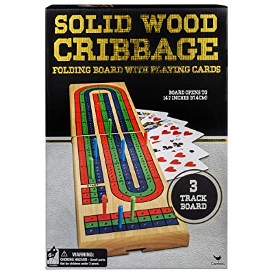 Cardinal Industries Solid Wood Folding Cribbage Set (Styles Will Vary): Toys & Games