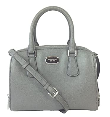 17160284840988 Amazon.com: Michael Kors Reese Medium Leather Satchel, Steel Grey: Shoes