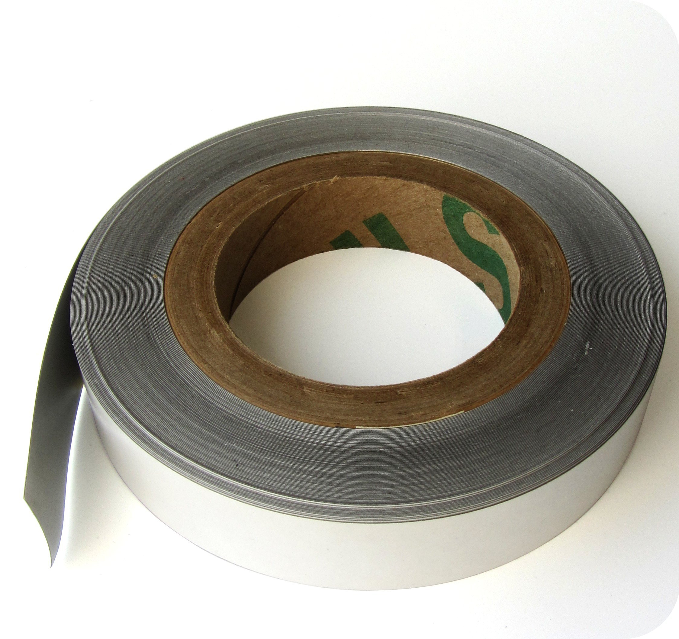 Magnet Receptive Steel Tape - 1 Inch X 100 Feet X .003 Inch with Indoor Adhesive by US Magnetix