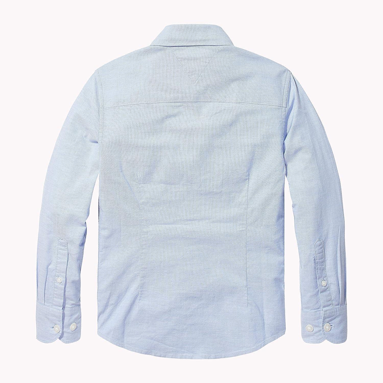 Tommy Hilfiger Boys Stretch Oxford Shirt L//S Camicia Bambino