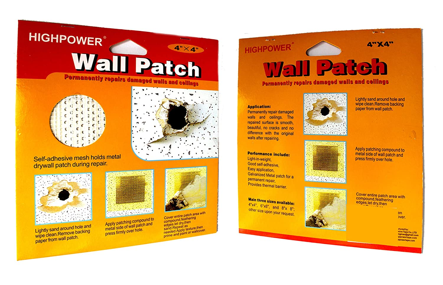 Choose Quantity) Self Adhesive Stick Mesh Patch Ceiling Repair Hole ...
