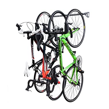 Monkey Bars Wall Bike Rack - Stores 3 Bikes - Heavy Duty Bike Wall Mount