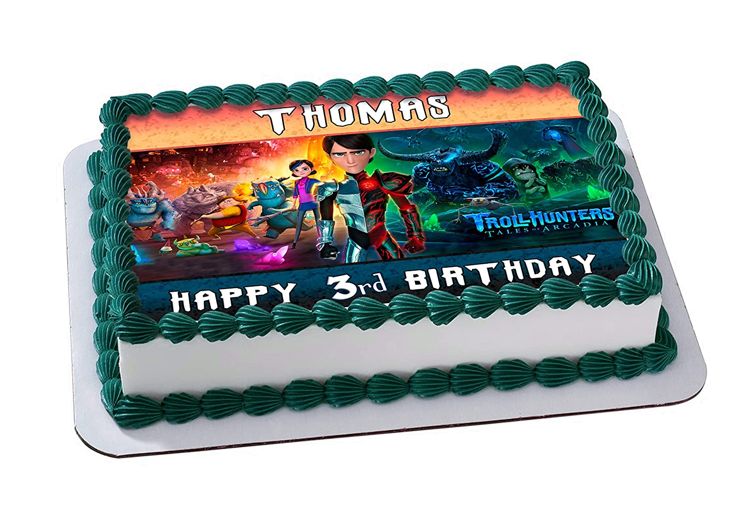 Trolls Hunters Edible Image Cake Topper Personalized Birthday 14