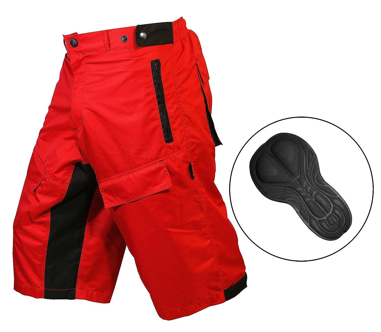 con forro interior acolchado Coolmax. Pantalones cortos ProComfort MTB para bicicleta de monta/ña hombre