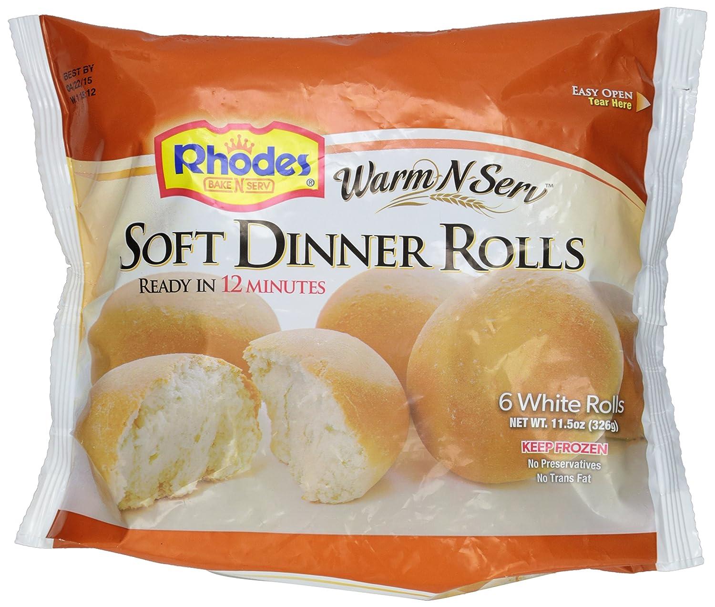 Rhodes Warm N Serv Soft Rolls 115 Oz Frozen Amazon