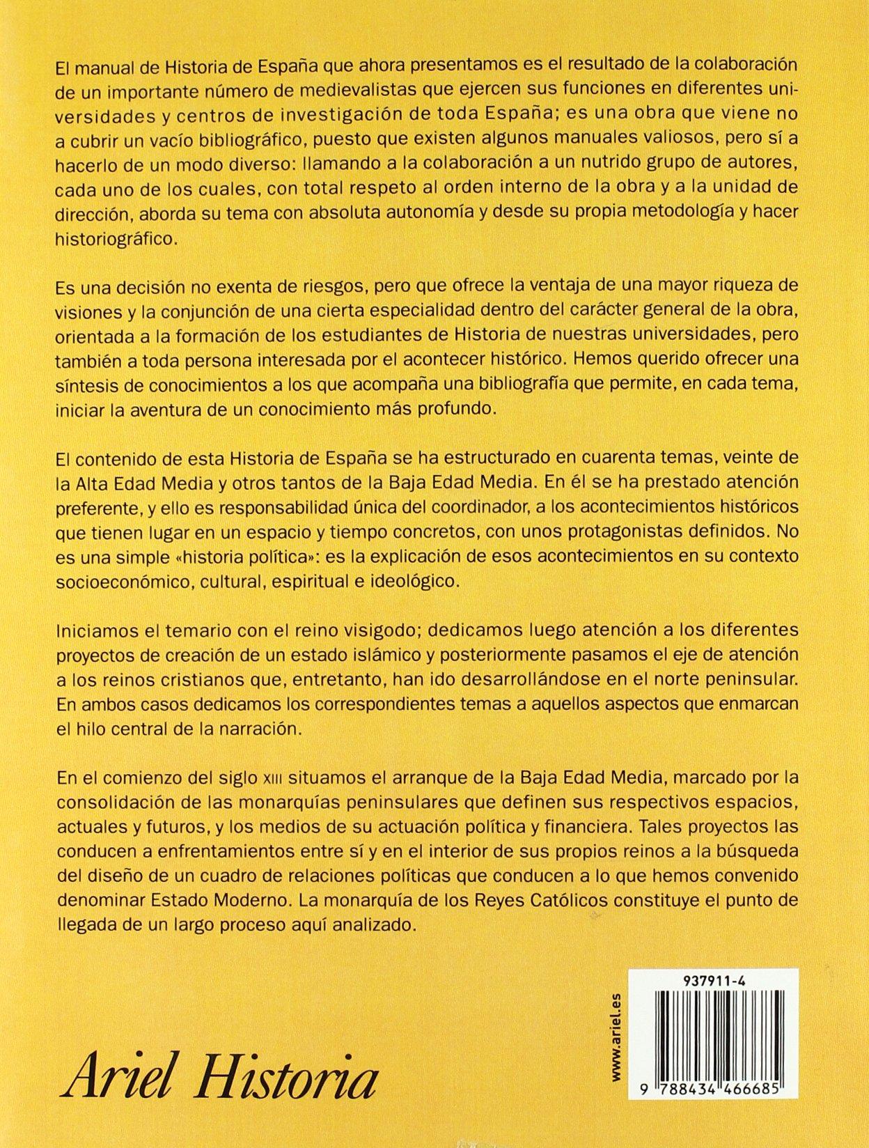 Historia de España de la Edad Media (Ariel Historia): Amazon.es: Álvarez Palenzuela, Vicente Ángel: Libros