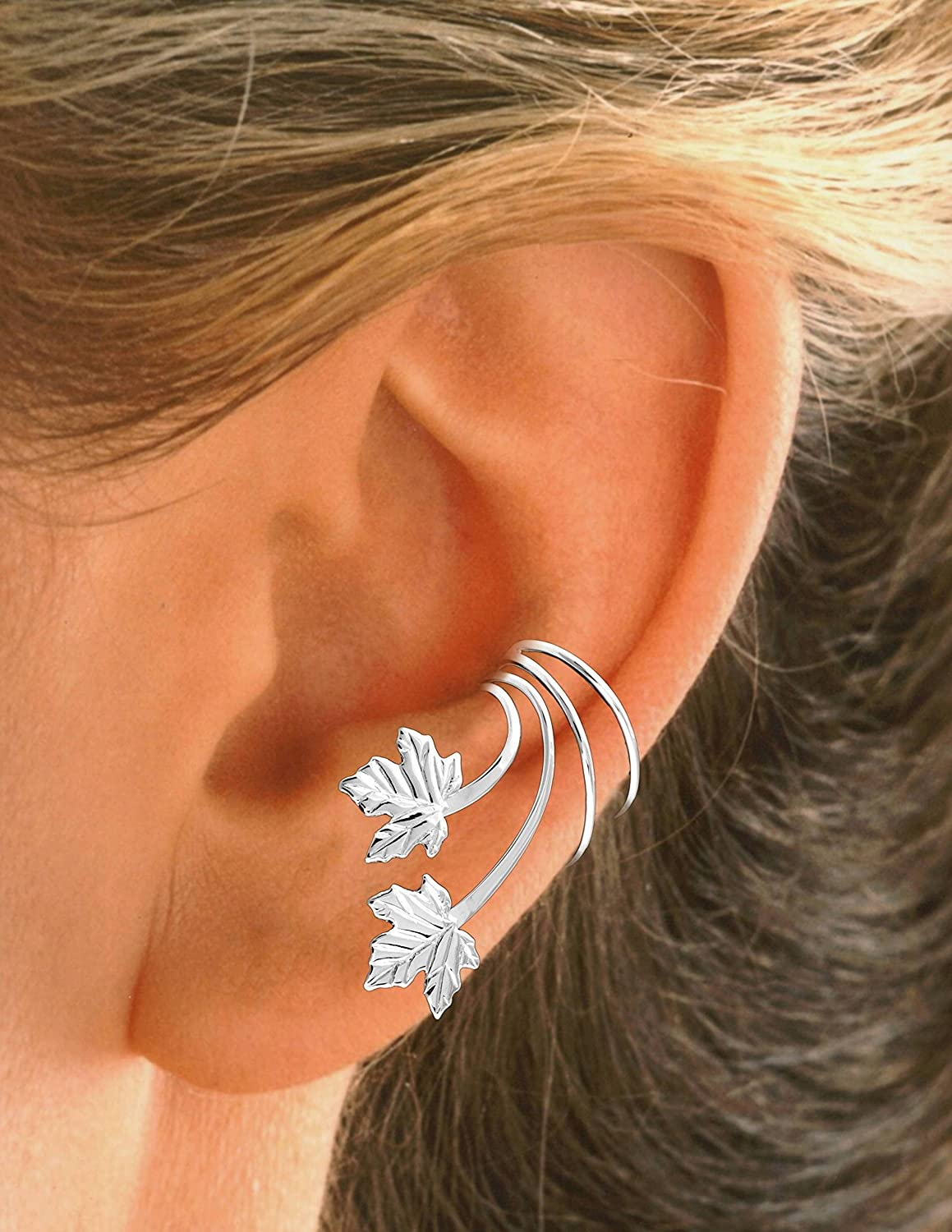 Boxed 925 Sterling Silver Patterned Ear Cuff
