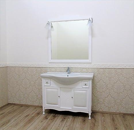 Le Chic Mobile da bagno BIANCO con lavabo ceramica frontale eco ...