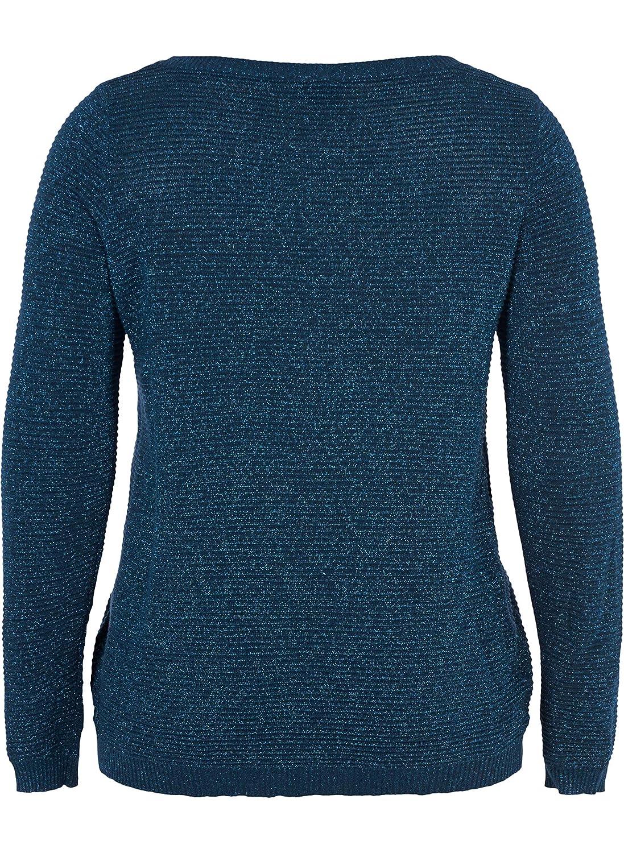 Zizzi Damen Mcuba L//S Blouse Bluse