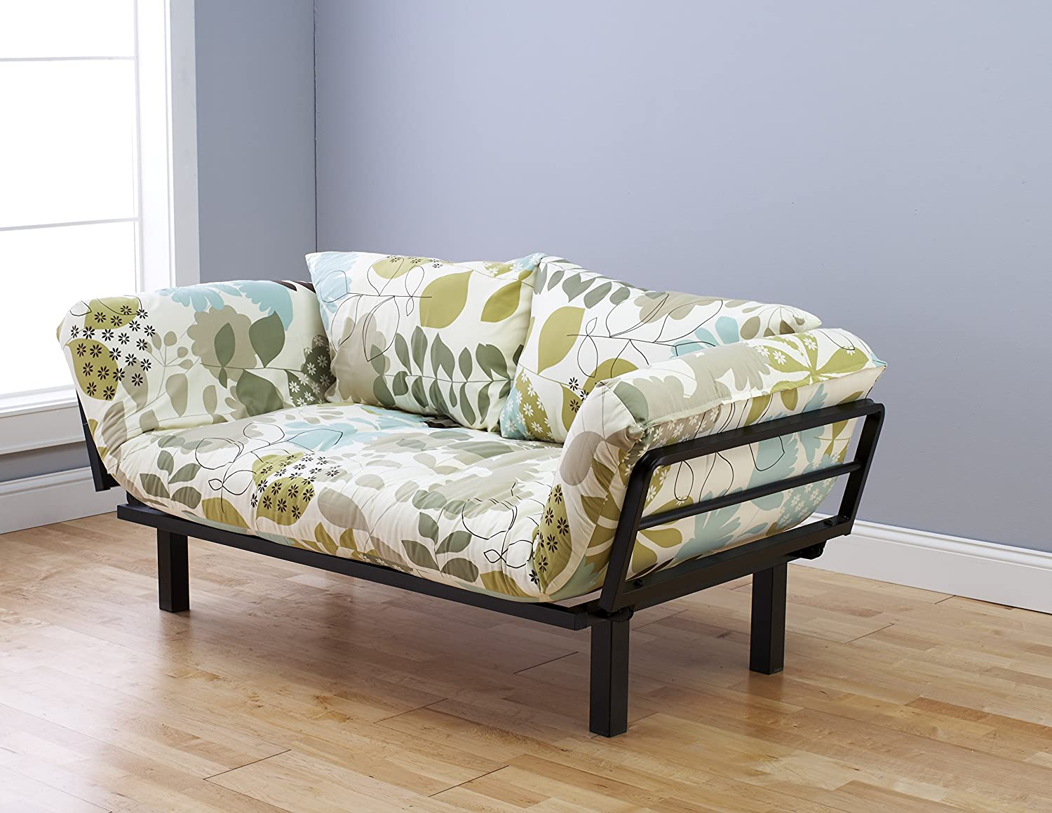 daybed. Amazon.com: Futon Sofa Couch And Daybed Or Twin Bed Size With 6 Mattress. Floral Cover Is Perfect For Smaller Bedroom, Studio Apartment, Guest Room, D