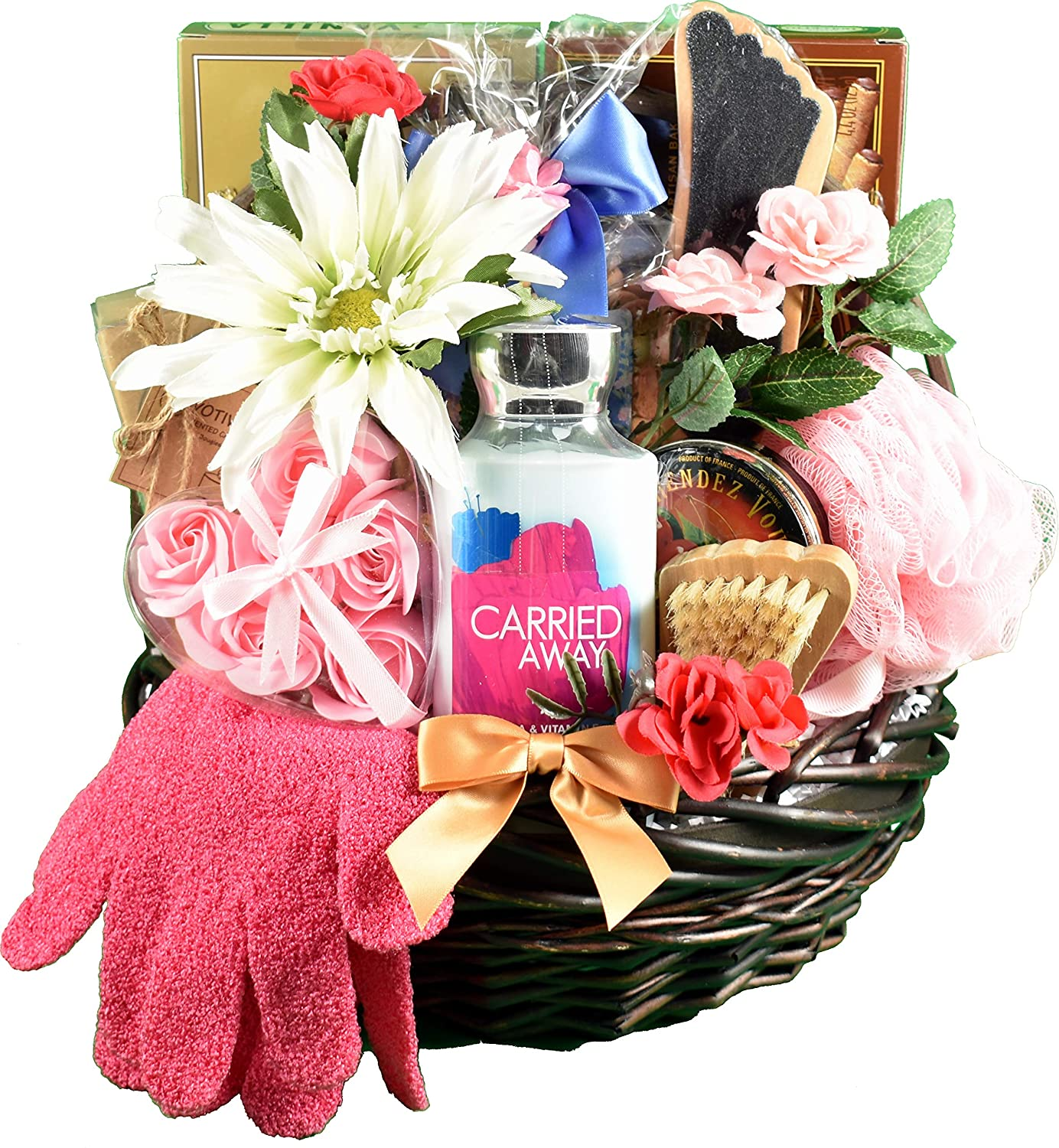 A Sweet Escape, Spa & Chocolates Gift Basket For Her - Spoil Her In Luxury With Decadent Chocolates & Personal Care Items & Lotions 91mpZEuaehL._SL1500_