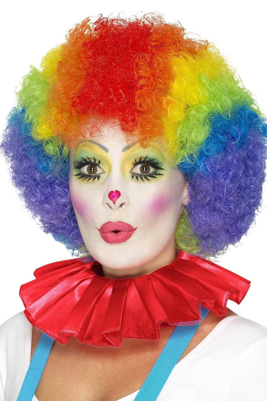 Smiffys 46868 D/éguisement Colerrette de Clown Taille Unique Rouge