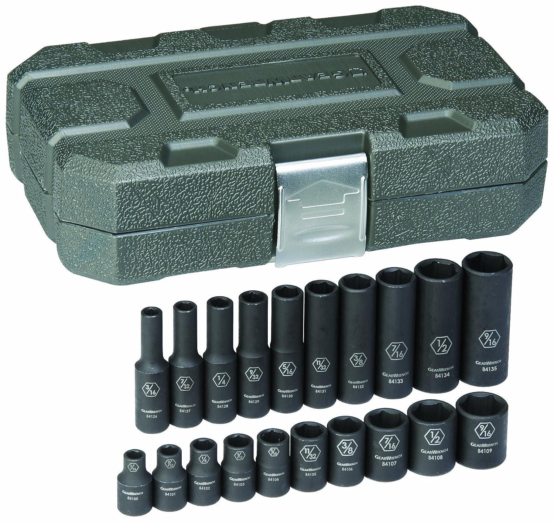 3//8 Drive 6 Point SAE Impact Socket Set GearWrench 84910N 8 Pc