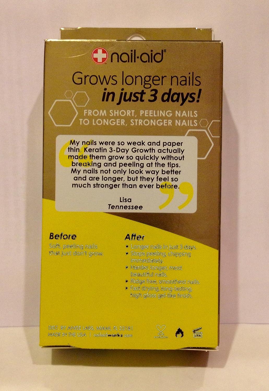Amazon.com : Nail-Aid KERATIN, 3-DAY Growth .55 fl oz (16ml) : Beauty