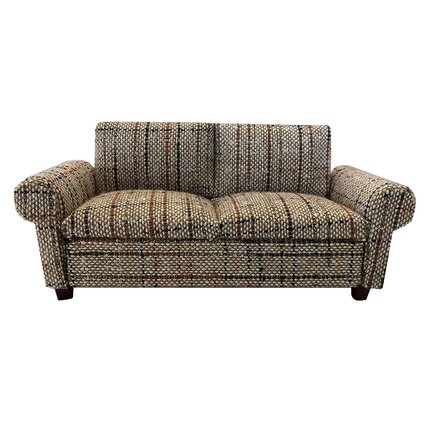 Inusitus Miniature Dollhouse Sofa - Dolls House Furniture Couch Loveseat- 1/12 Scale (Pattern 1)