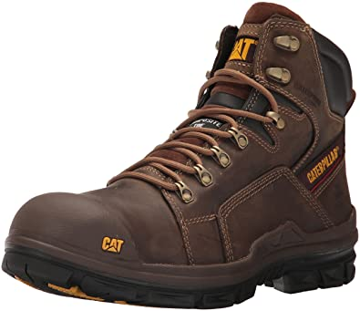 9098c33cc2e Caterpillar Men's Struts Waterproof Nano Toe/Dark Brown Industrial and  Construction Shoe