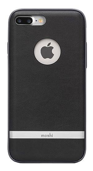 the latest cf981 98552 Moshi Napa Vegan Leather Case for iPhone 7 Plus 8 Plus, Charcoal Black