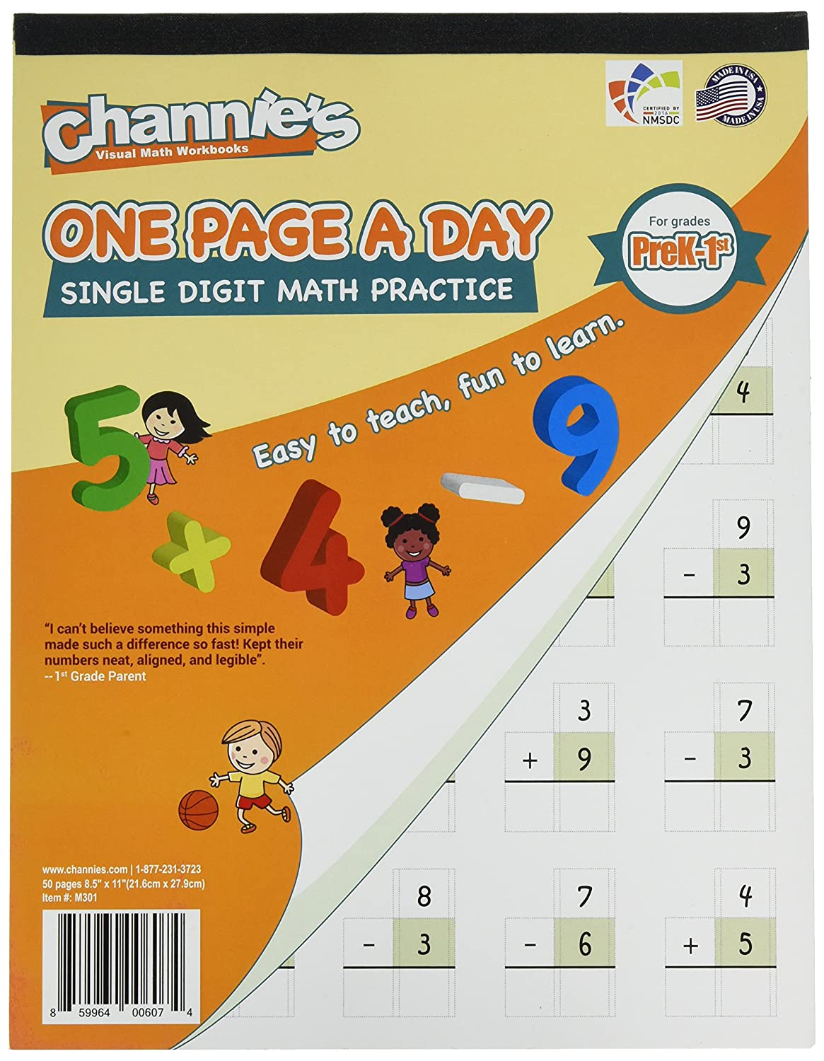Workbooks big third grade workbook : Amazon.com : Channie's One Page A Day Triple Digit Math Workbook ...