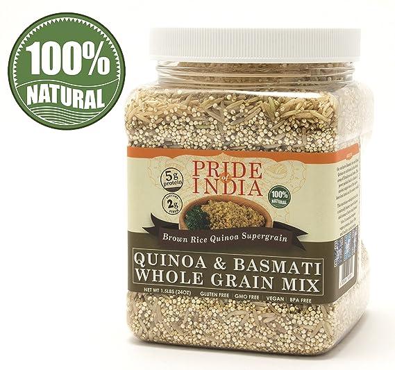 El orgullo de la India - La quinua y arroz Basmati Total mezcla de cereales -