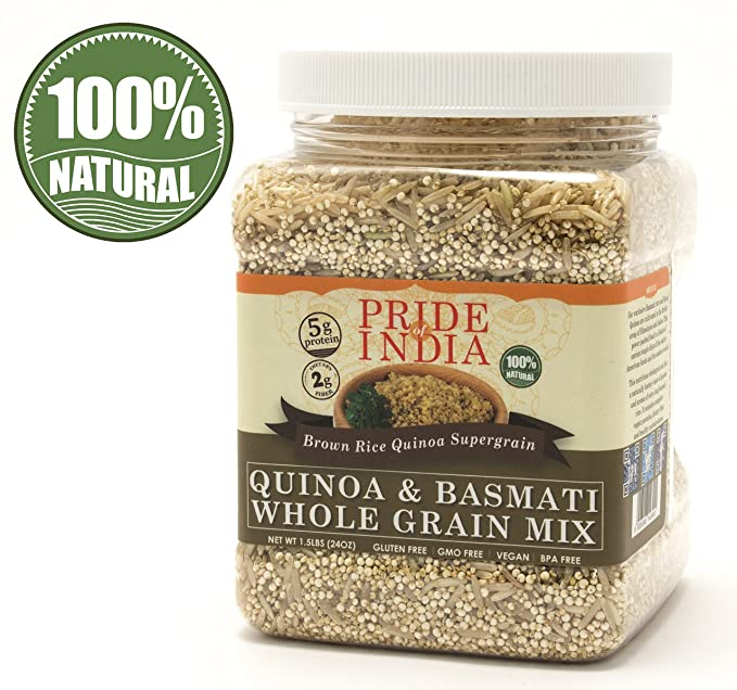 Pride Of India - Quinoa & Brown Basmati Whole Grain Mix - 1,5 lbs ...
