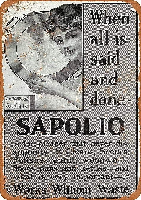 Shunry Sapolio Pan Soap Placa Cartel Vintage Estaño Signo ...