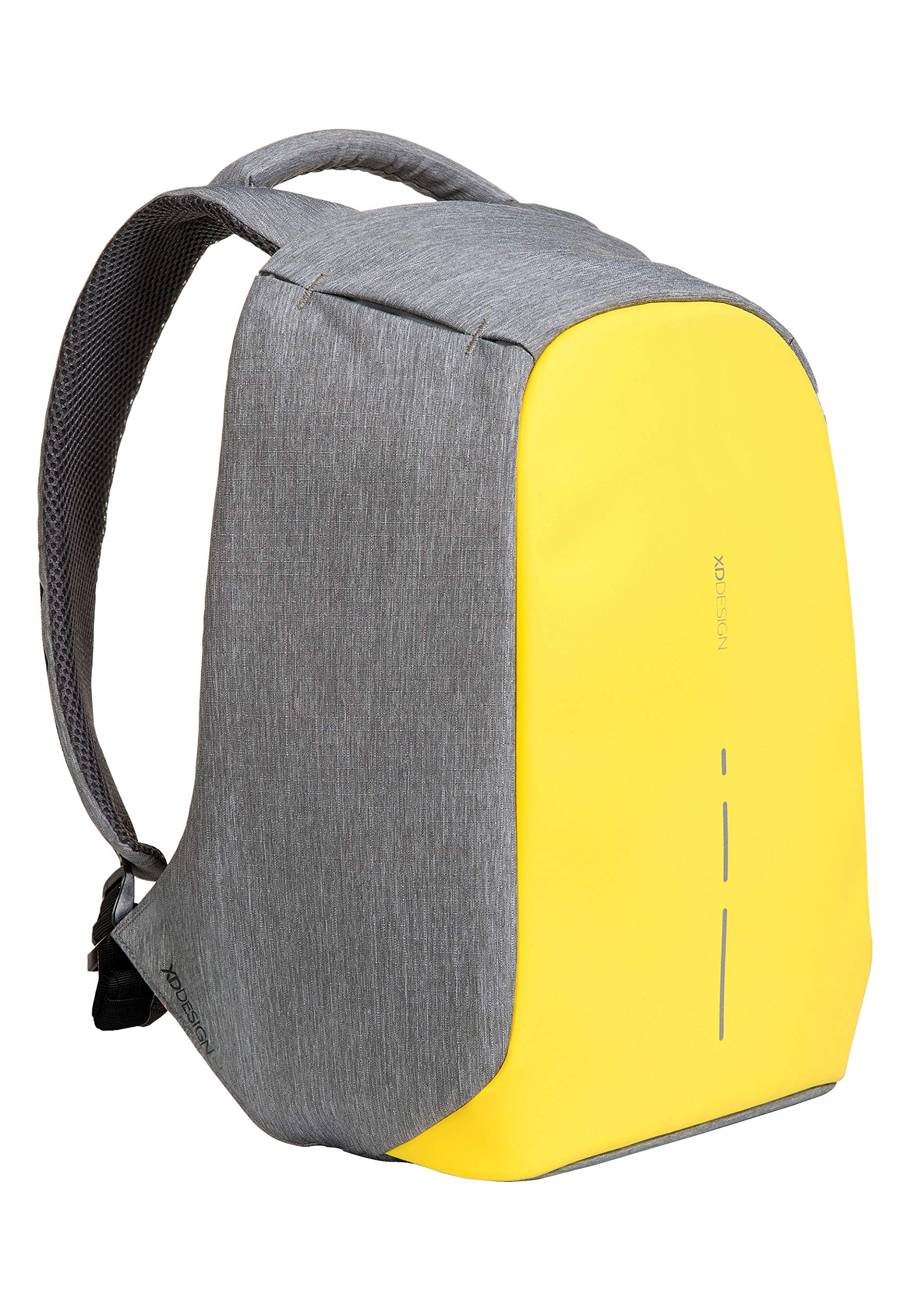 XD Design Bobby Compact Anti-Theft Laptop USB Backpack Yellow (Unisex Bag) by XDDesign