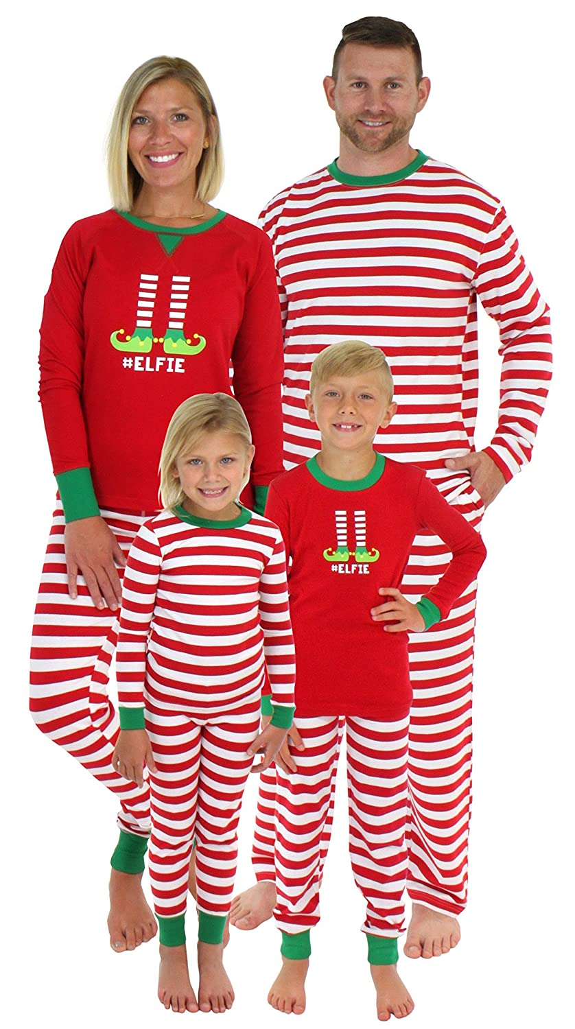 Sleepyheads Christmas Family Matching Red Striped Elf Pyjama PJ Sets