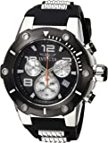 Invicta Men's 'Speedway' Quartz Stainless Steel and Silicone Casual Watch, Color:Black (Model: 22235)