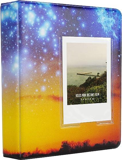 Yosuny Mini Album Schutzhülle 64 Taschen Für Fujifilm Instax Mini Filme Für Mini 8 Mini 9 Mini 11 70 90 25 50s 7s Liplay Kodak Hp Sprocke Snap Sternenhimmel 2 Küche Haushalt