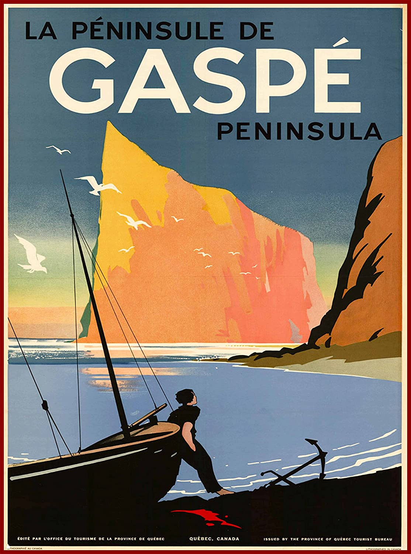 La Province de Quebec Canada Vintage Canadian Travel Advertisement Art Poster