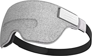Ivation Luuna Brainwave Brain Sensing Bluetooth Smart Sleep Mask Built-in Music/Sounds, Wireless Connection to Most Devices with EEG and AI Technology - Great for Home, Travel or Nap-Break at Office