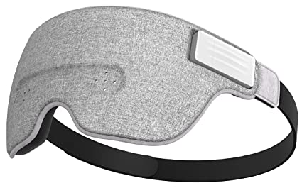 Ivation Luuna Brainwave Bluetooth Smart Sleep Mask Built-in Music/Sounds,  Wireless Connection to Most Devices with EEG and AI Technology - Great for