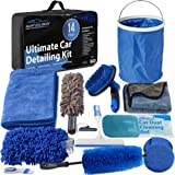 Relentless Drive Car Wash Kit, 14 Pcs Car Cleaning Kit for Exterior Car Cleaner & Car Interior Cleaner, The Ultimate Car Deta