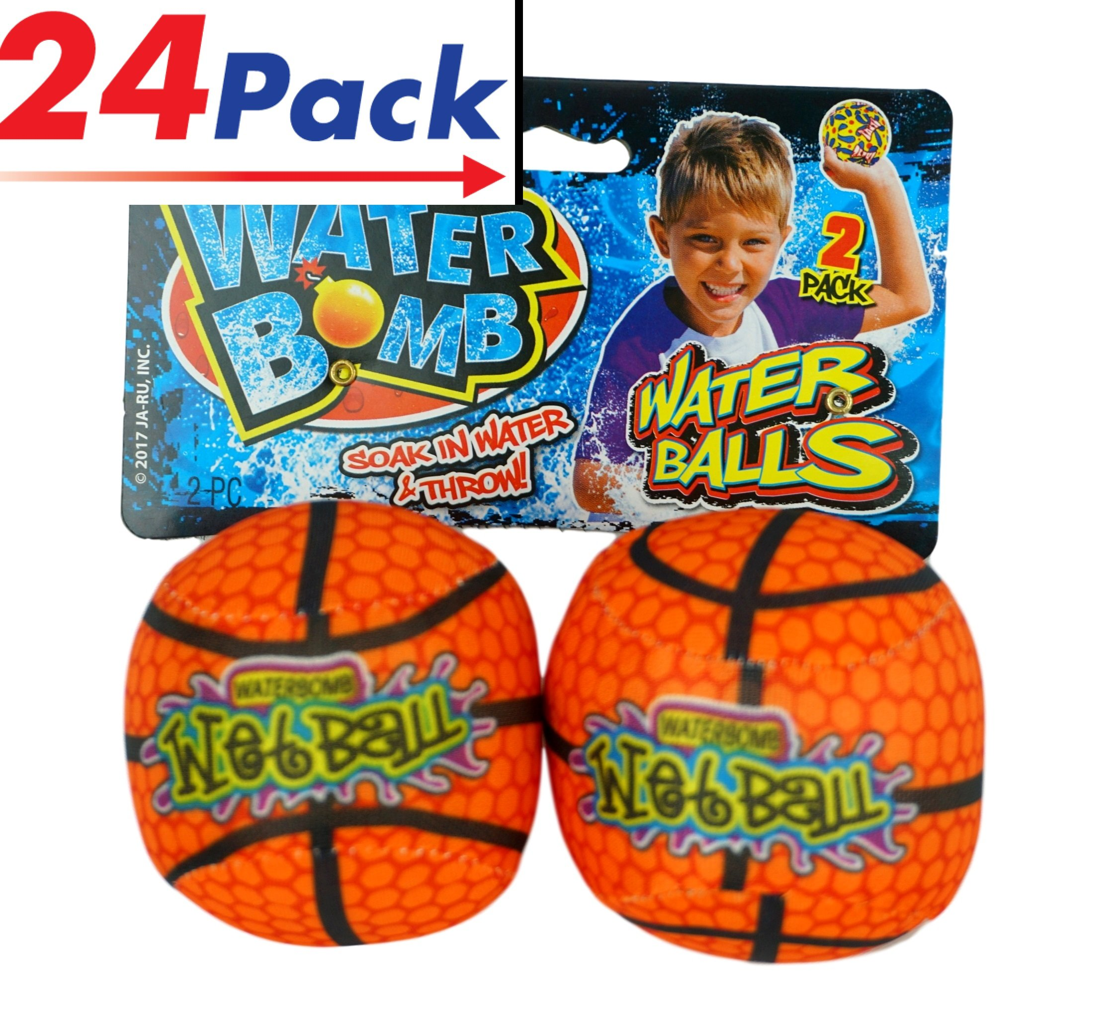 Water Spash Ball (24 Pairs) By JA-RU. Soak and Throw the Bomb. Like water Balloons but Better. | 149-24
