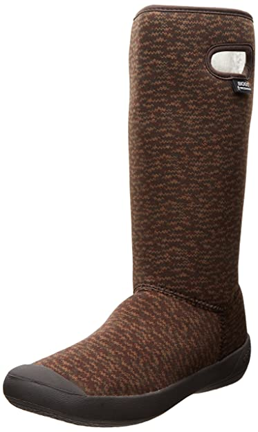 Bogs Women's Summit Knit Waterproof Insulated Boot, Chocolate,6 ...