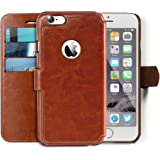 iPhone 6 Case - Ultra Slim and Light Wallet Case for Apple iPhone 6 (4.7) - Soft Vintage Brown Leather Wallet...