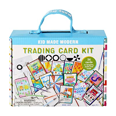 Kid Made Modern Make Your Own Trading Card Kit - Custom Playing Cards for Kids, Ages 6 and Up: Toys & Games
