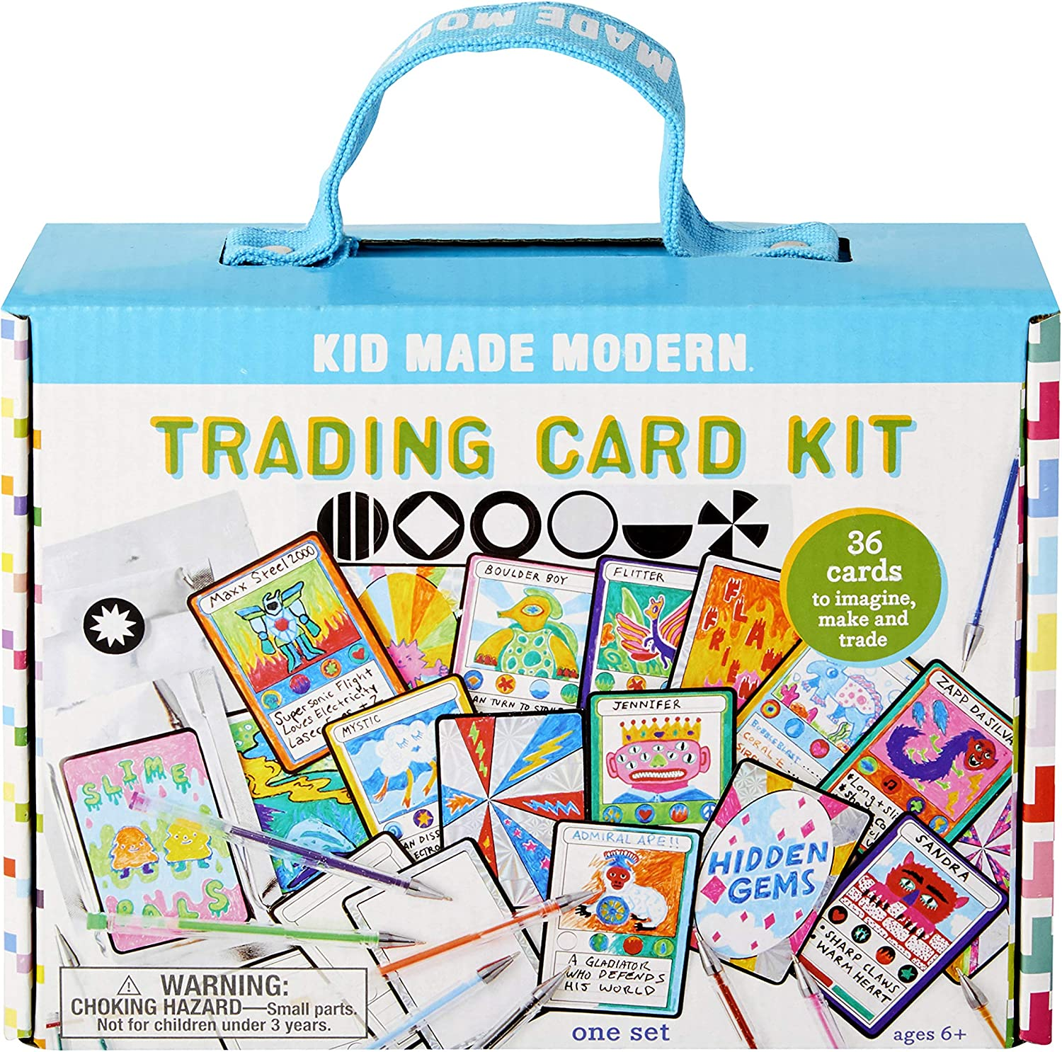 Crafts for Kids - Kid Made Modern Make Your Own Trading Card Kit - Custom Playing Cards for Kids, Ages 6 and Up