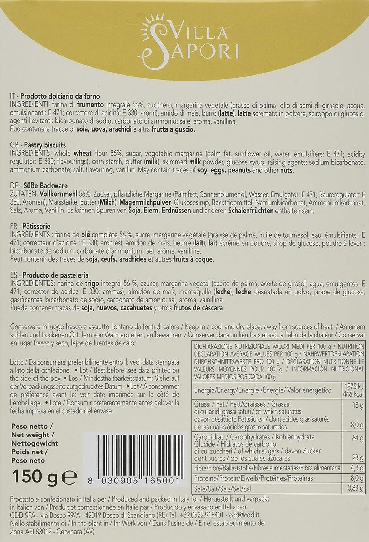 Villa Sapori - Fornaretti Integrales, caja de 900 g (pack de 6 x 150 g): Amazon.es: Alimentación y bebidas