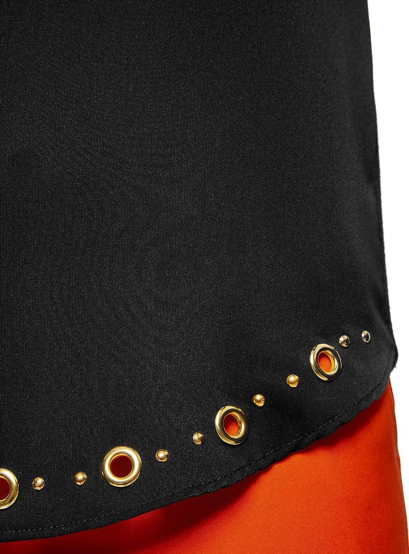 oodji Collection Mujer Jersey Recto con Decoraci/ón Met/álica