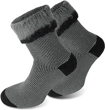 Calcetines POLAR HUSKY muy calientes, con felpa y lana de oveja / ¡Nunca más pies fríos! Couleur Extrem/Hot/Gris/Noir Taille 43/46: Amazon.es: Deportes y ...