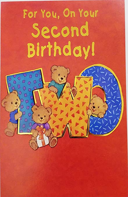 Amazon For You On Your 2nd Second Birthday Greeting Card