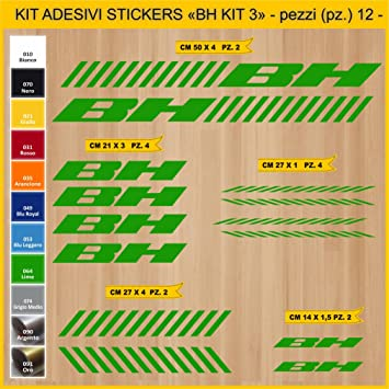 Kit Pegatinas Stickers Bicicleta BH - Kit 3-12 Piezas- Bike Cycle ...