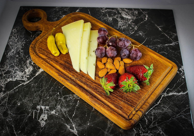 Compra Prosharp® Severe Tabla de Cortar Profesional Carne (Madera Maciza Natural/bajo de Plana/bandejas de Queso, Embutidos - Dimensiones: 42 x 20 cm en ...