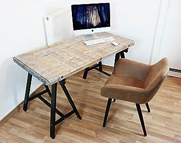 Escritorio Oficina Mesa Mesa Look Ordenador Industrial Vintage ...