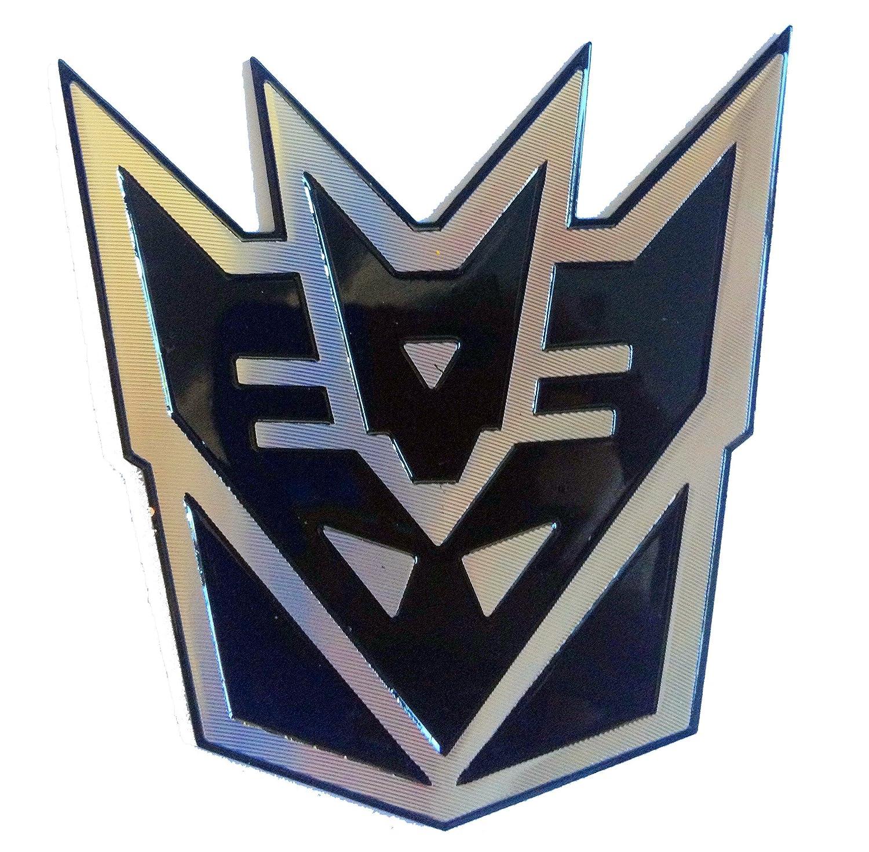 Transformers Decepticon Nero Laser 3d riflettente auto emblema adesivo decalcomania taglia S