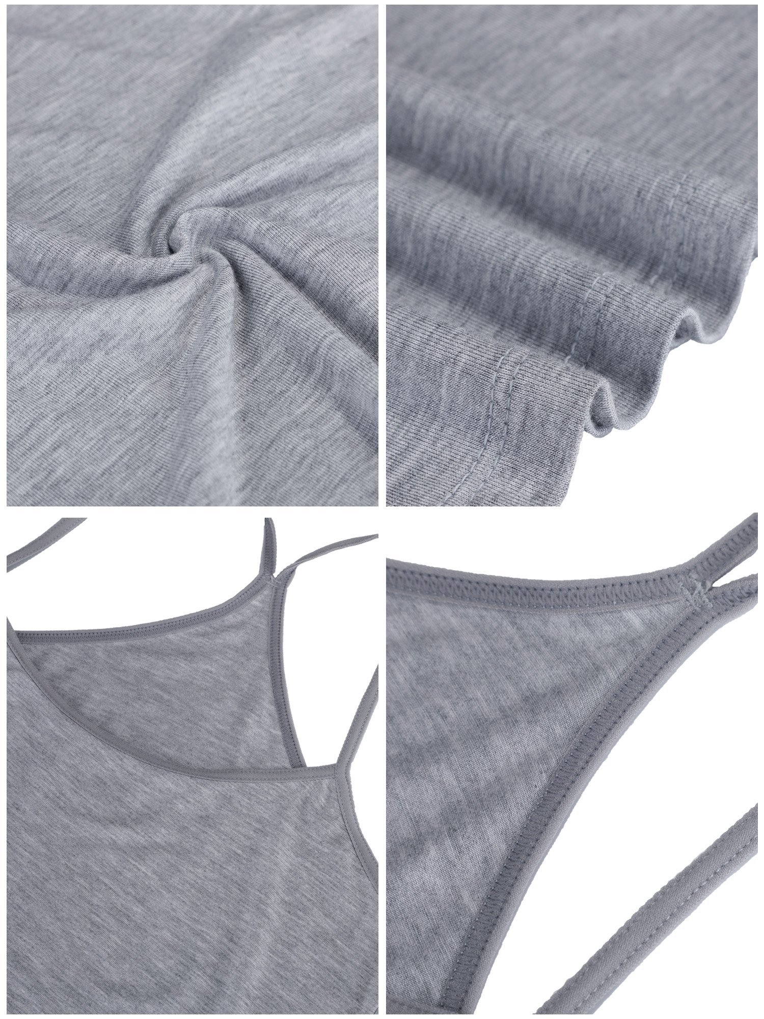 BOAO 3 Pieces Women Camisoles Seamless Basic Stretch Cami with Y-Back Spaghetti Strap Tank Tops, 3 Colors (M Size) by BOAO (Image #7)