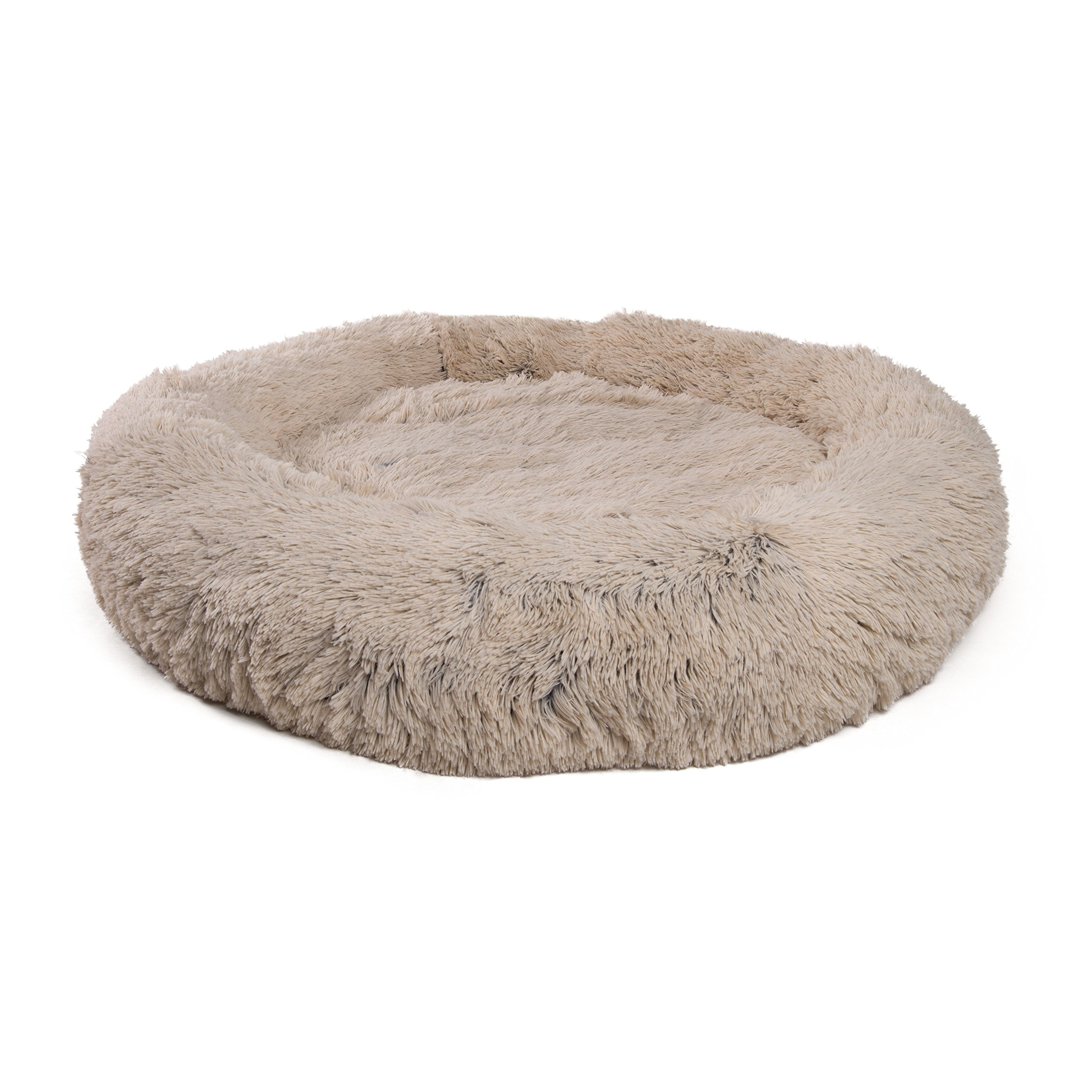 Best Friends by Sheri Luxury Shag Fuax Fur Donut Cuddler, Extra Large – Donut Cat and Dog Bed