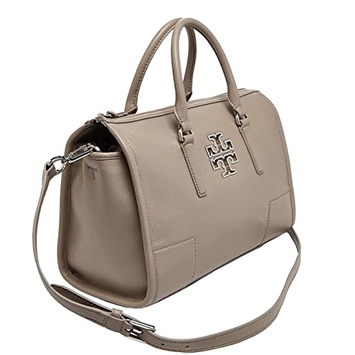 872f2969bdf7 Tory Burch Britten Satchel French Gray  Amazon.in  Shoes   Handbags